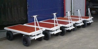 2TE Four Wheel Flatbed Turntable Truck - 1220mm x 610mm Large Wheels